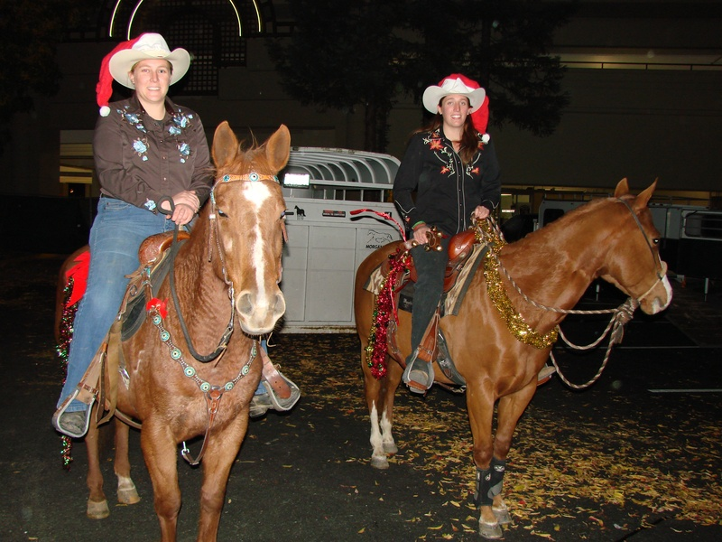Angela and Samantha Materne, Lead Riders!